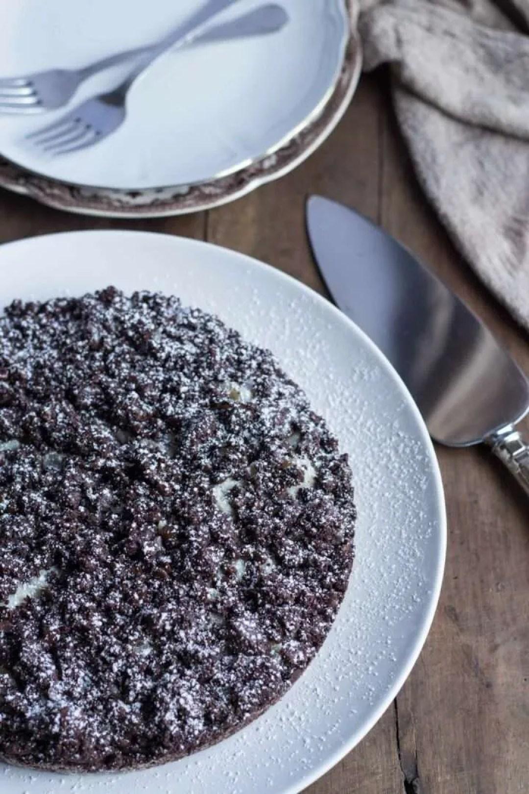 la ricetta della sbriciolata al cacao