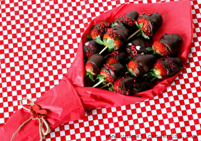 Ramo De Rosas Fresas Con Chocolate Para El Día Del Amor Y La Amistad Una Mexicana En Usa