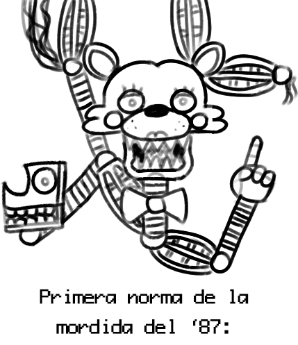 Lujo Fnaf Mangle Para Colorear Elaboracin