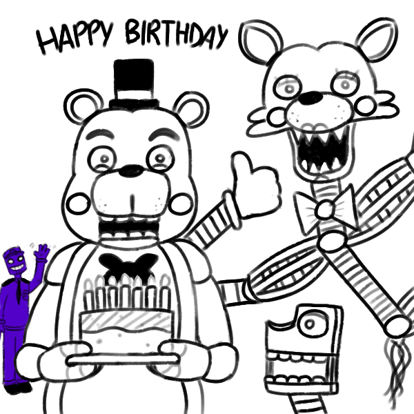 Imagenes Para Colorear Five Nights At Freddy S Dibujo De
