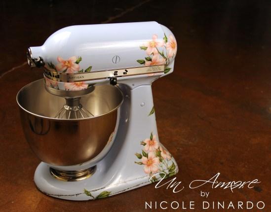 Custom painted kitchenAid Mixers  Un Amore Custom Designs