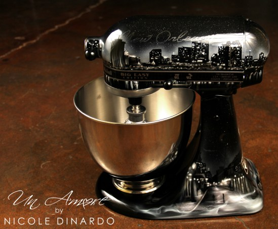 Custom painted kitchenAid Mixers  Un Amore Custom Designs