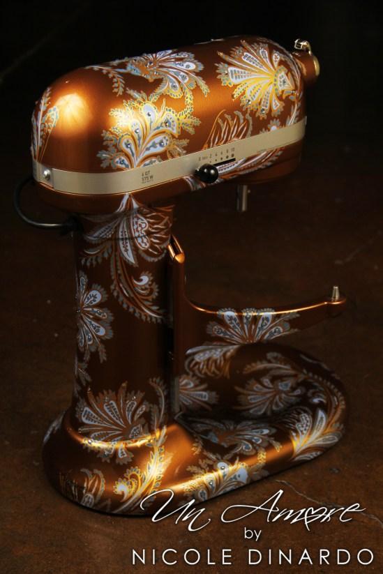 Paisley Copper Custom KitchenAid  Un Amore Custom Designs