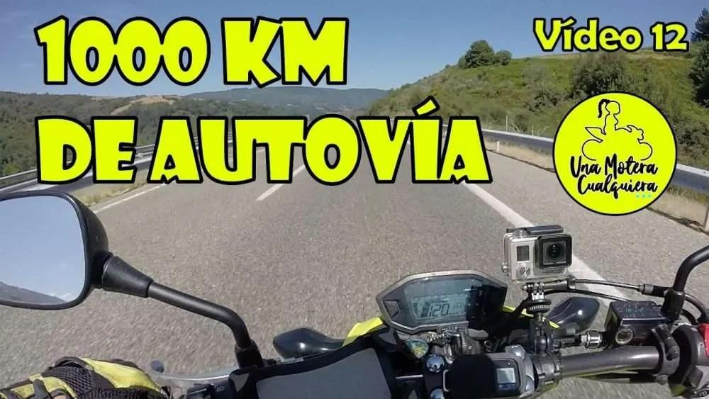 1000 km de autovía sola en moto. Consejos para sobrevivir al tiempo, el viento, la ola de calor..
