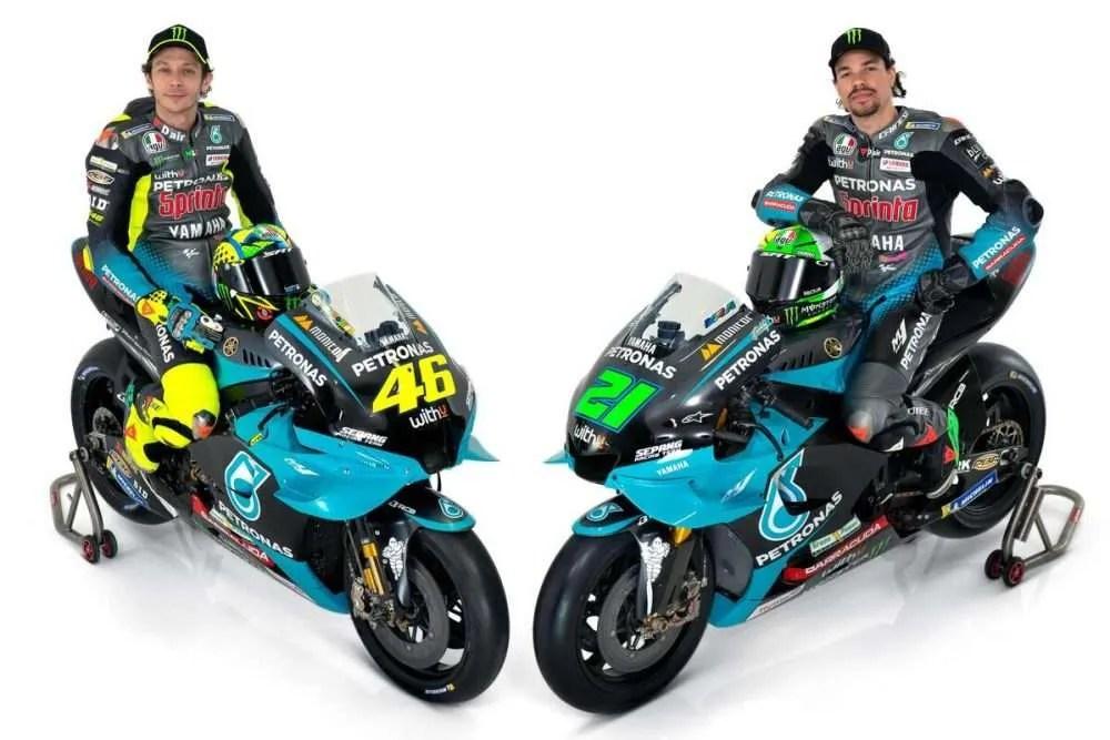 Valentino Rossi y Franco Morbidelli, dos amigos en el Yamaha Petronas SRT