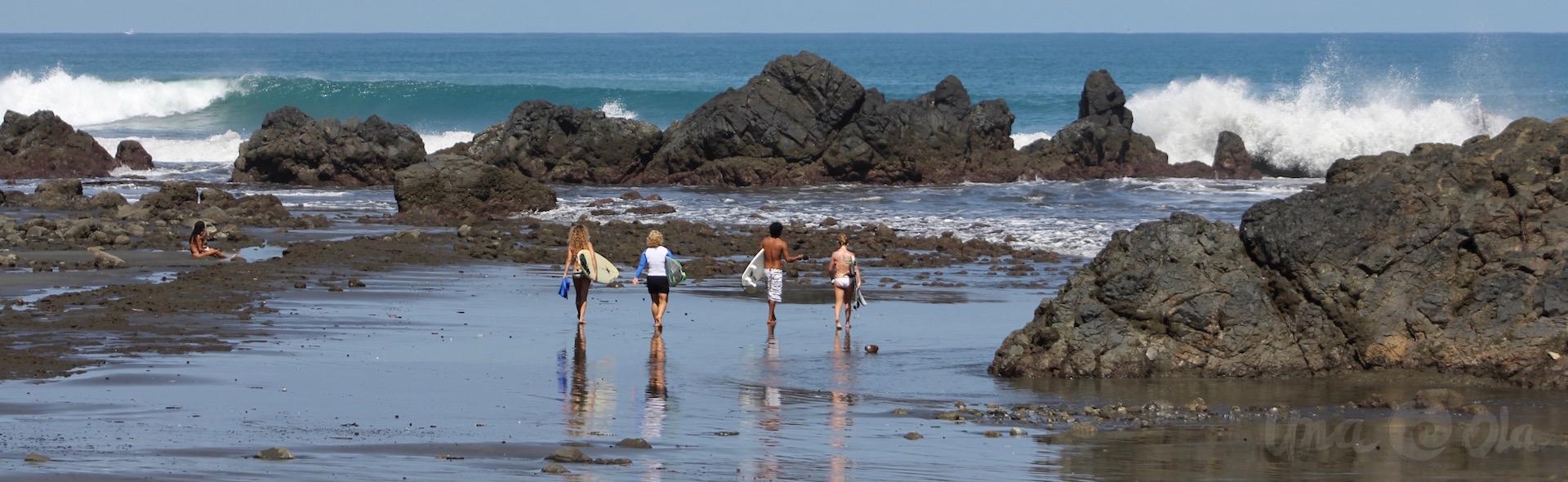 Girls Going Surfing in Pavones