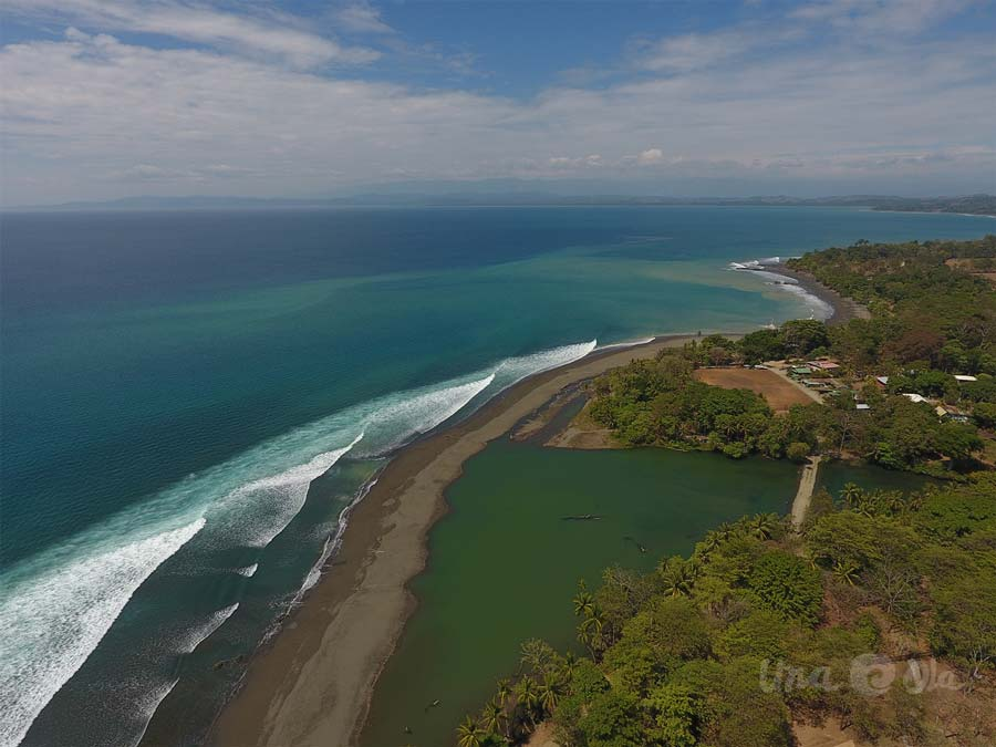 Pavones Surf Break from the Air