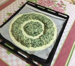 Girasole di Pasta Brisè, Ricotta e Spinaci 2