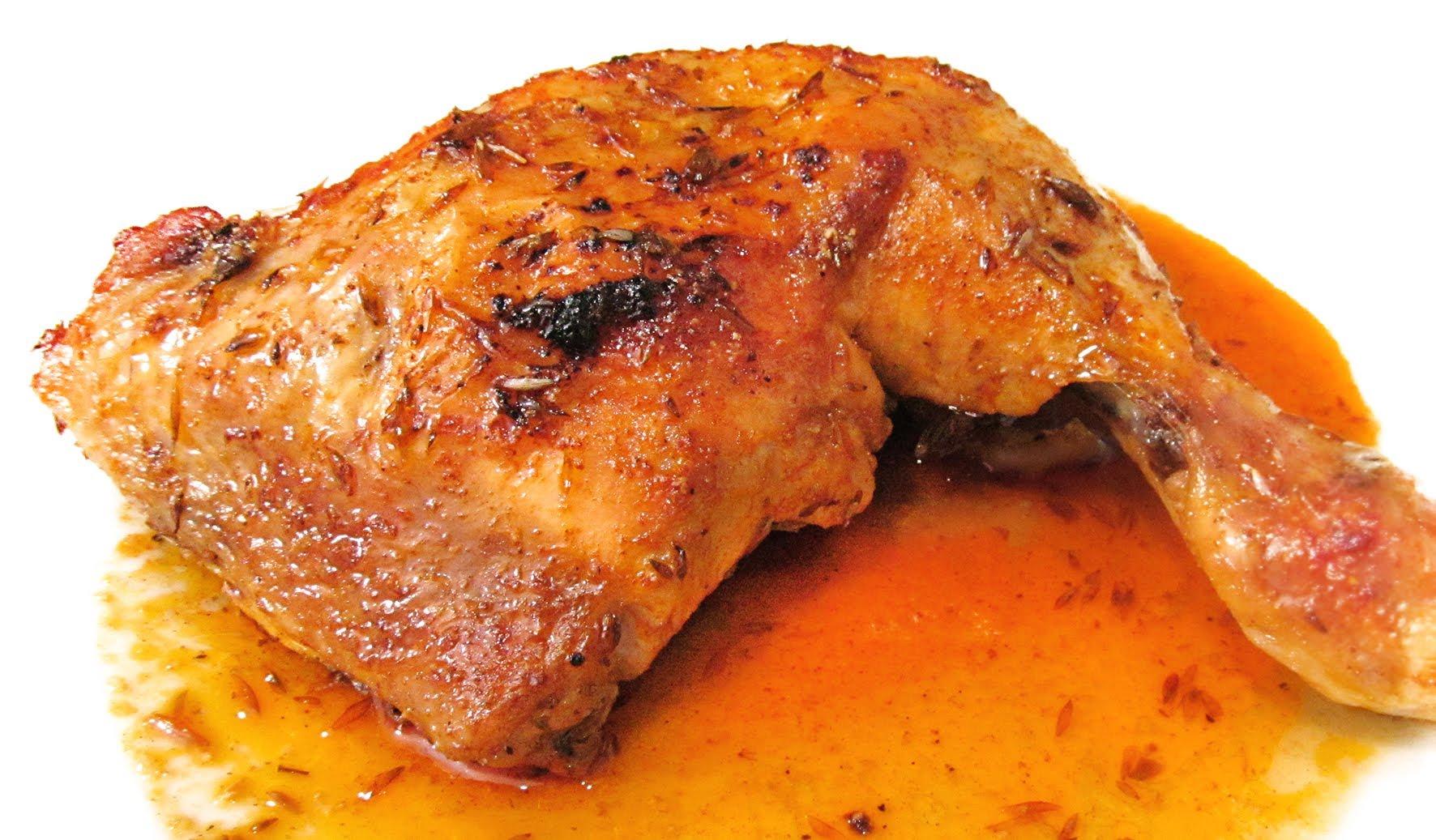 Receta de muslos de pollo al horno con naranja  Unarecetacom
