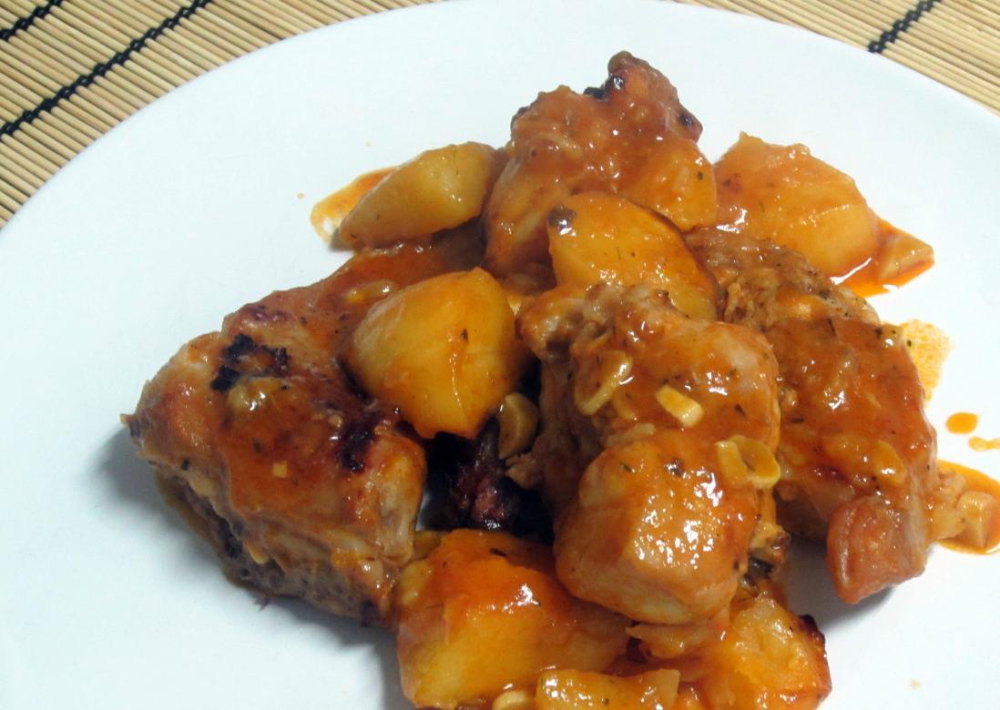 Receta de conejo al ajillo con salsa  Unarecetacom