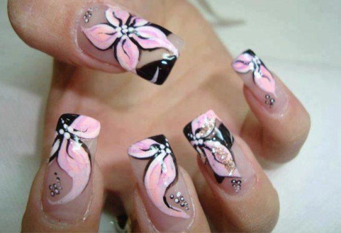 Diseños De Uñas Con Flores Uñasdecoradas Club