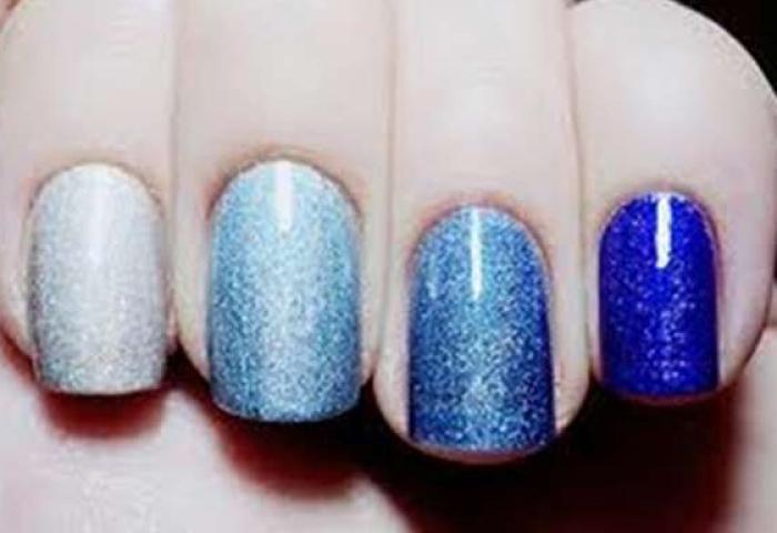 Uñas Decoradas Color Azul Uñasdecoradas Club