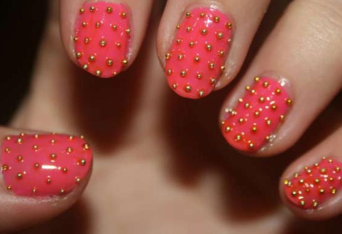 Uñas Decoradas Color Coral Uñasdecoradas Club
