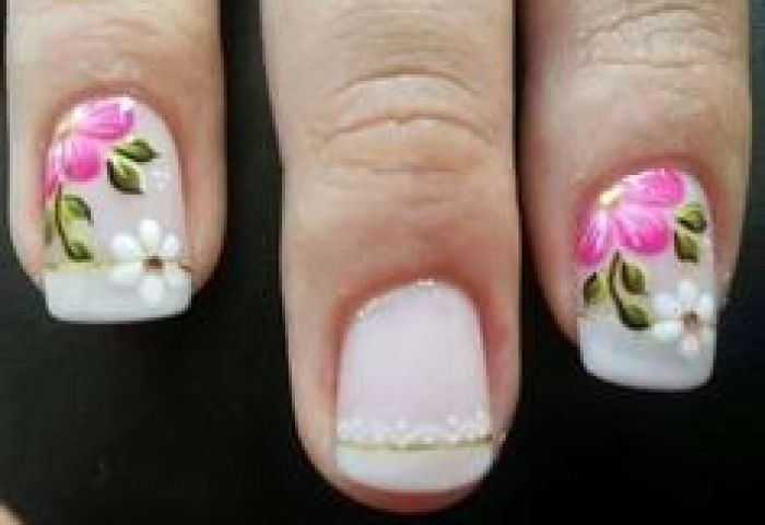 Decoración De Uñas Facil Decoradas Con Flores