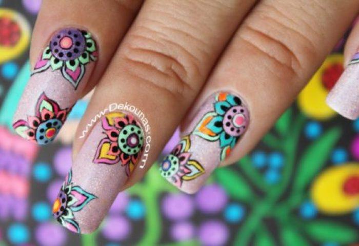80 Uñas Decoradas Con Diseños De Mandalas