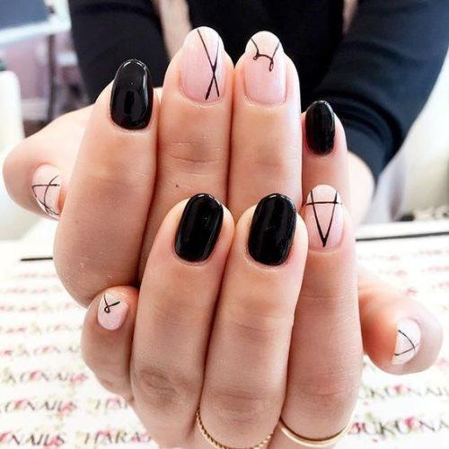 Diseños De Uñas Color Negro Decoración De Uñas