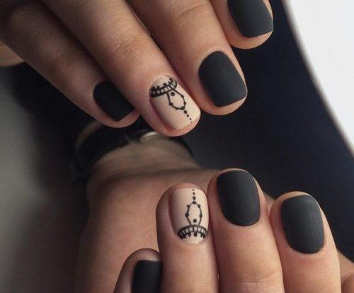 Diseños De Uñas Negras Con Plateado