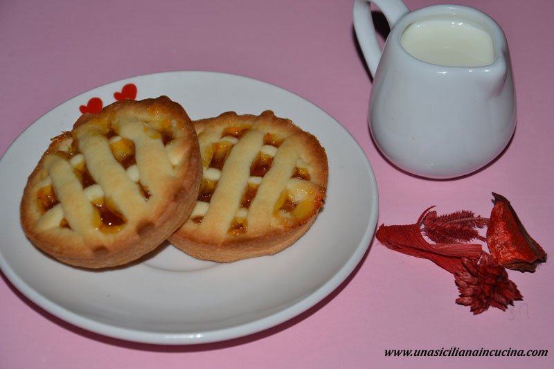 Crostatine rustiche confettura albicocche