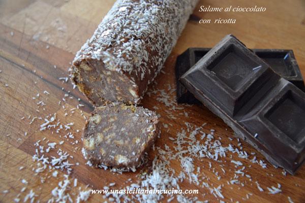 salame cioccolato ricotta