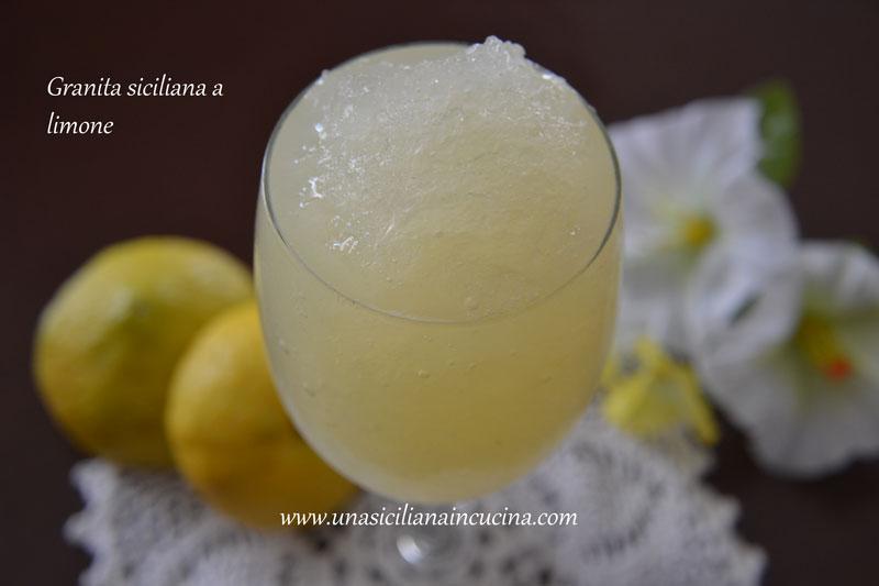 granita limone