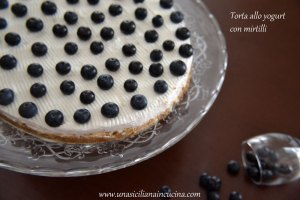 Torta yogurt mirtilli