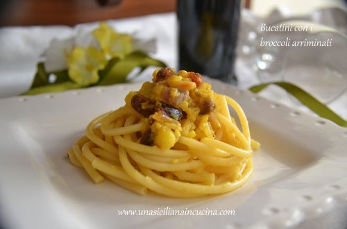 Bucatini con i broccoli arriminati