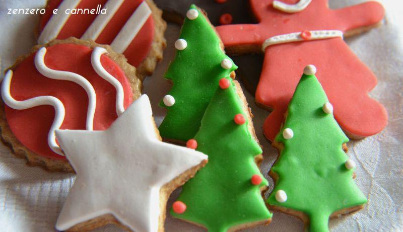 Biscotti natalizi zenzero e cannella