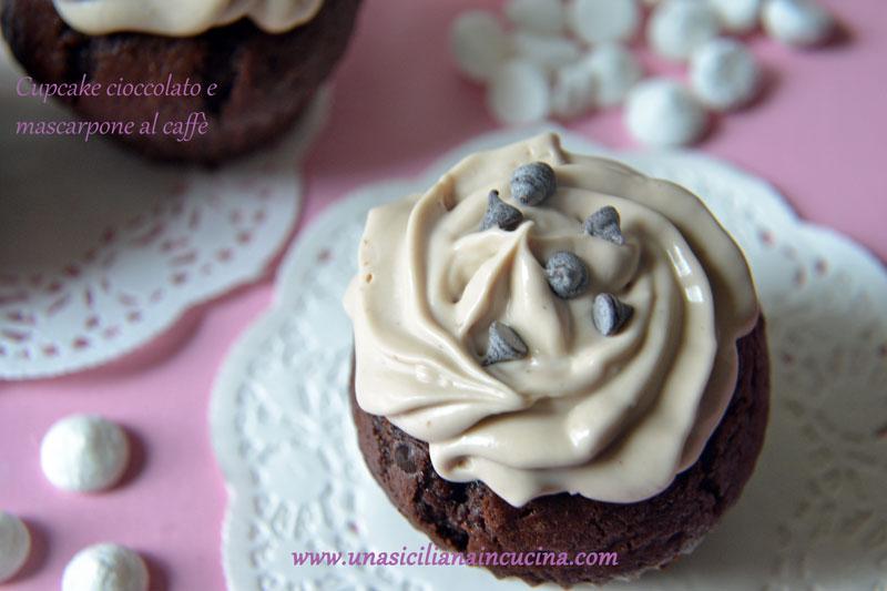 Cupcake cioccolato e crema al caffè