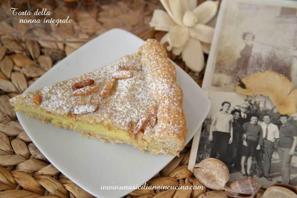 torta della nonna integrale