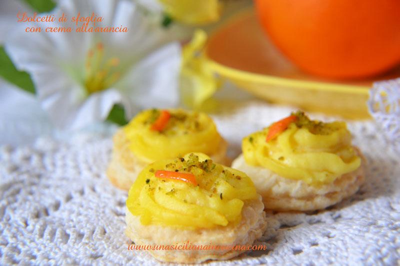 dolcetti sfoglia crema arancia