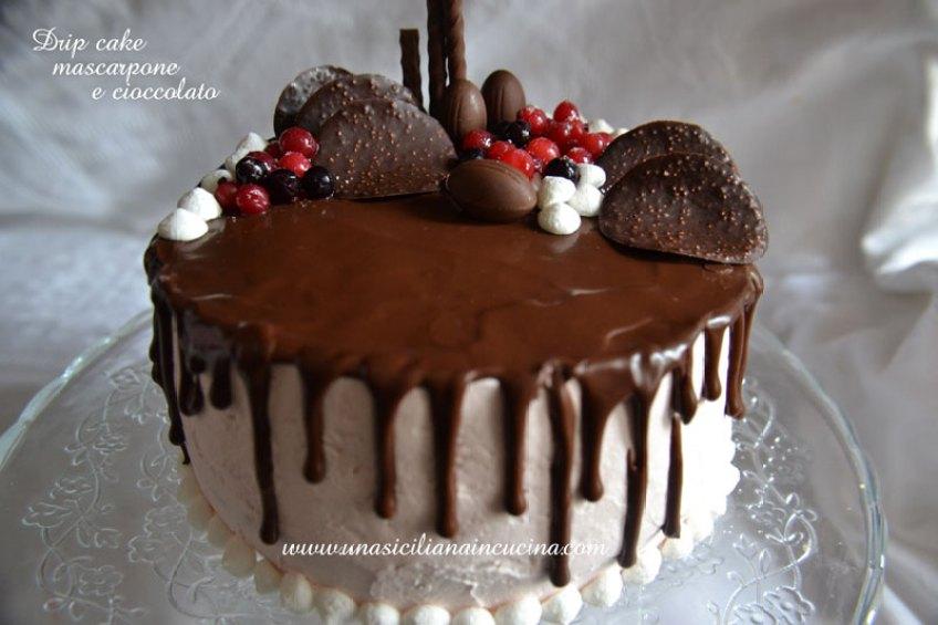 drip cake mascarpone e cioccolato