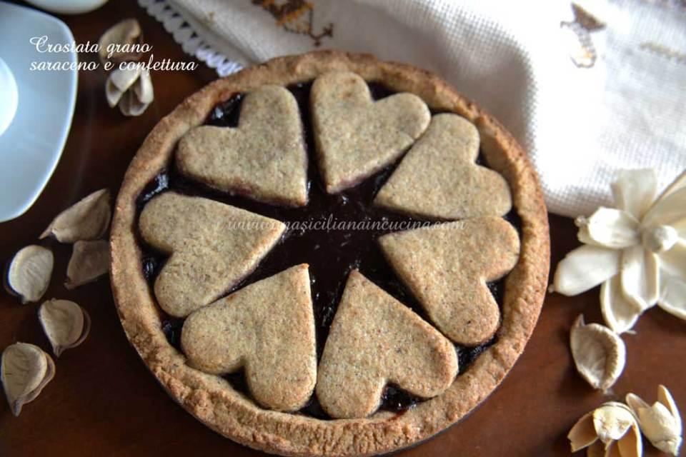 crostata grano saraceno e confettura