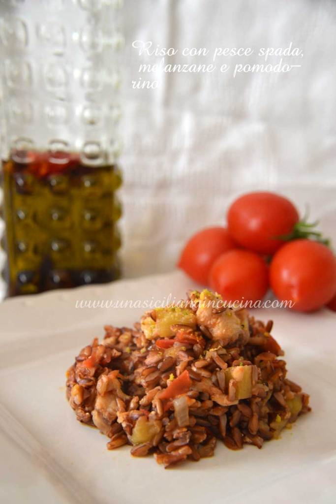 Riso pesce-spada,-melanzane-e-pomodorino