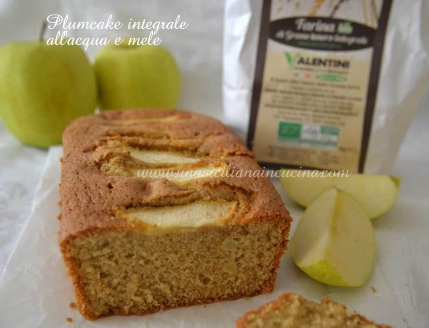 Plumcake integrale acqua e mele