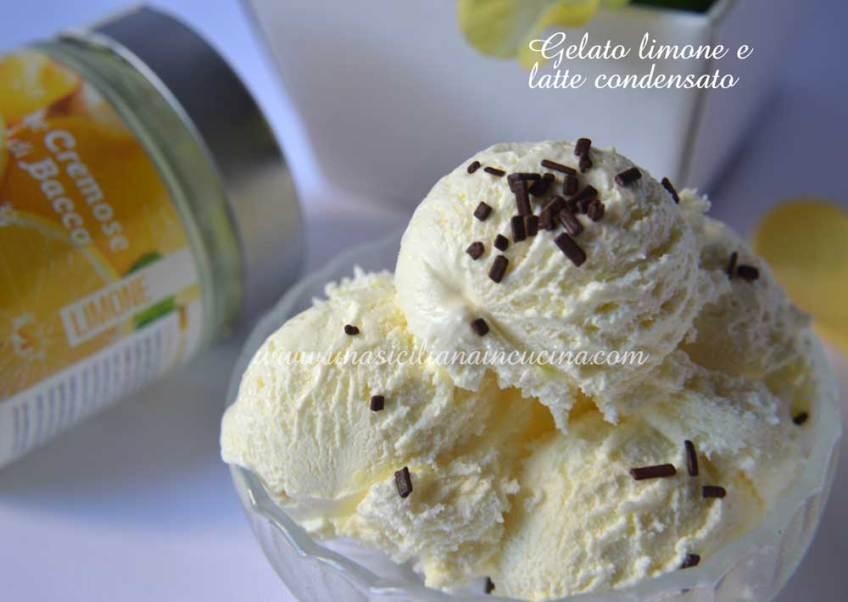 Gelato limone e latte condensato