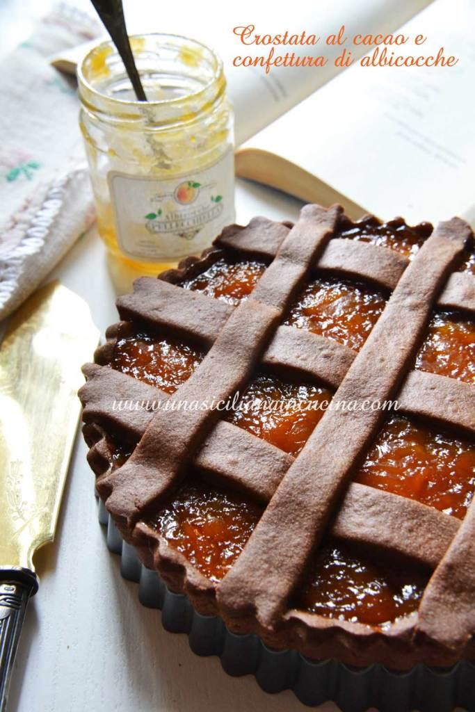 Crostata al cacao e confettura di albicocche