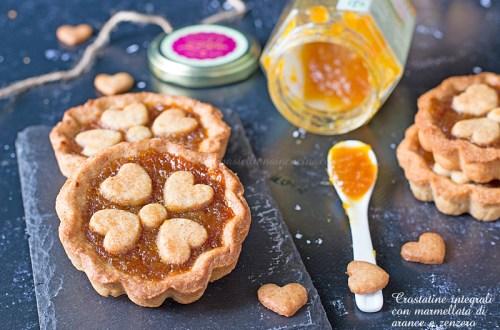Crostatine integrali marmellata di arance e zenzero