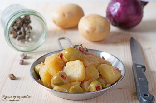 Patate in agrodolce alla siciliana
