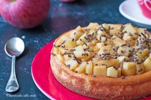 Cheesecake alle mele e ricotta
