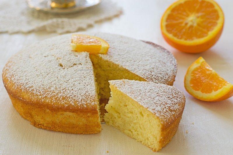 Torta arancia e yogurt morbida