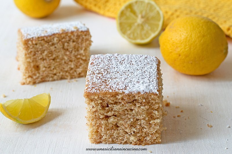 Torta integrale al limone