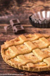 Crostata alla ricotta con frolla al pistacchio