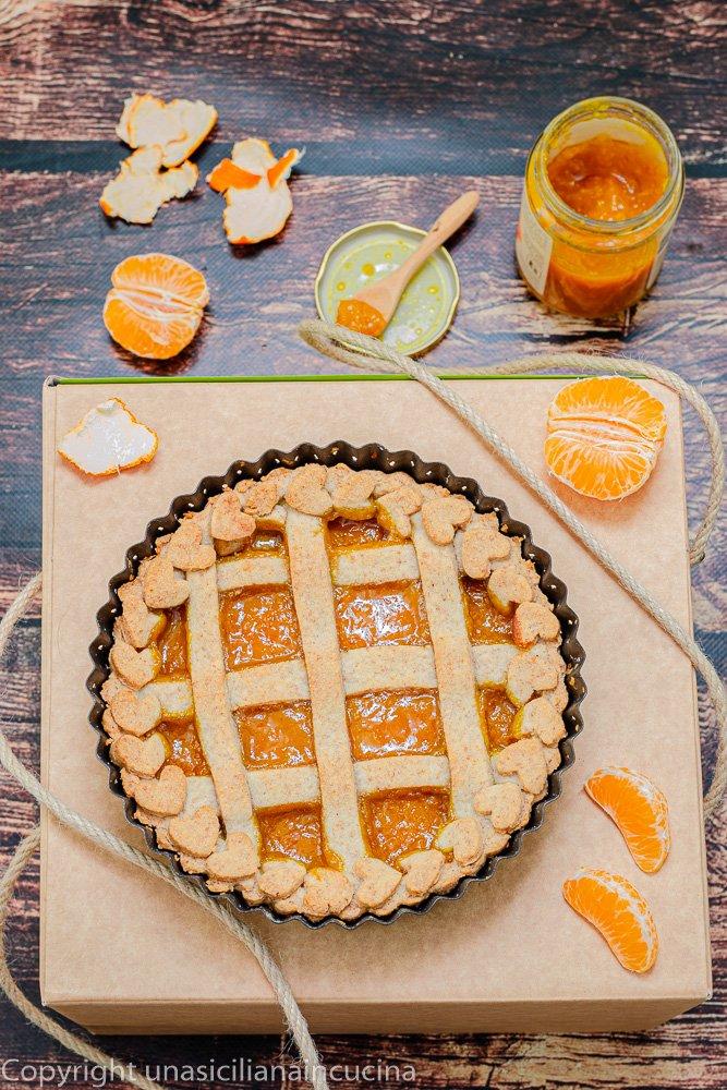 Crostata integrale marmellata mandarini