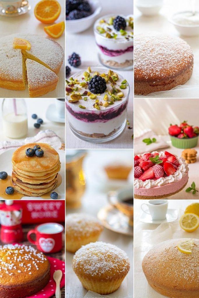 Raccolta dolci con lo yogurt