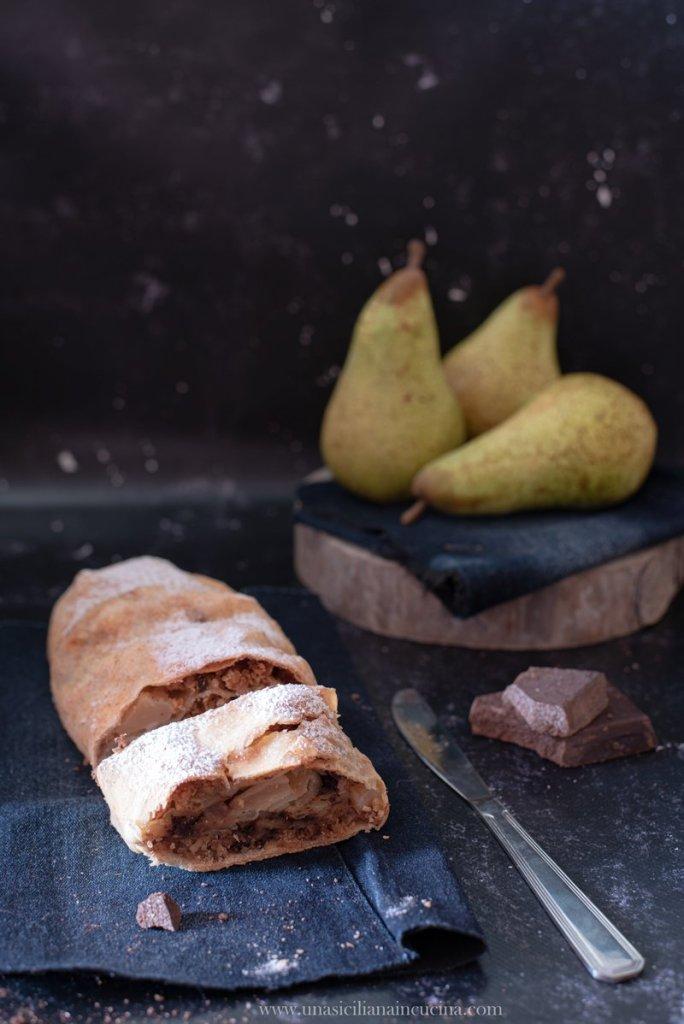 Strudel di pere e cioccolato