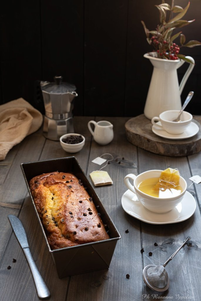 Plumcake ricotta e gocce cioccolato