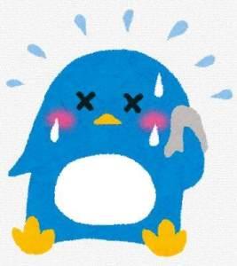 汗をかいてるペンギンさん_R