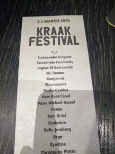 Kraak Festival flyer