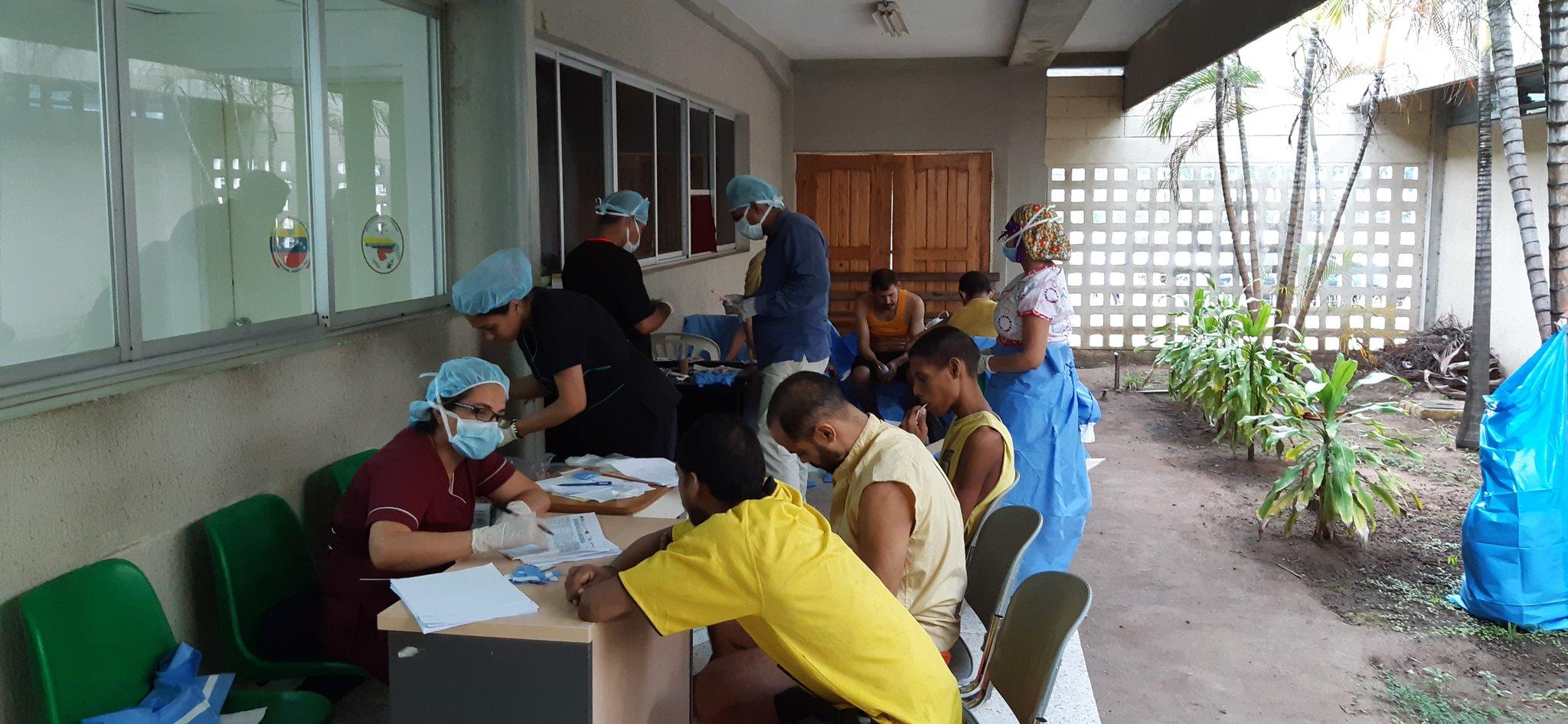 Reclusos del Cicpc Ciudad Guayana recibieron jornada médico asistencial