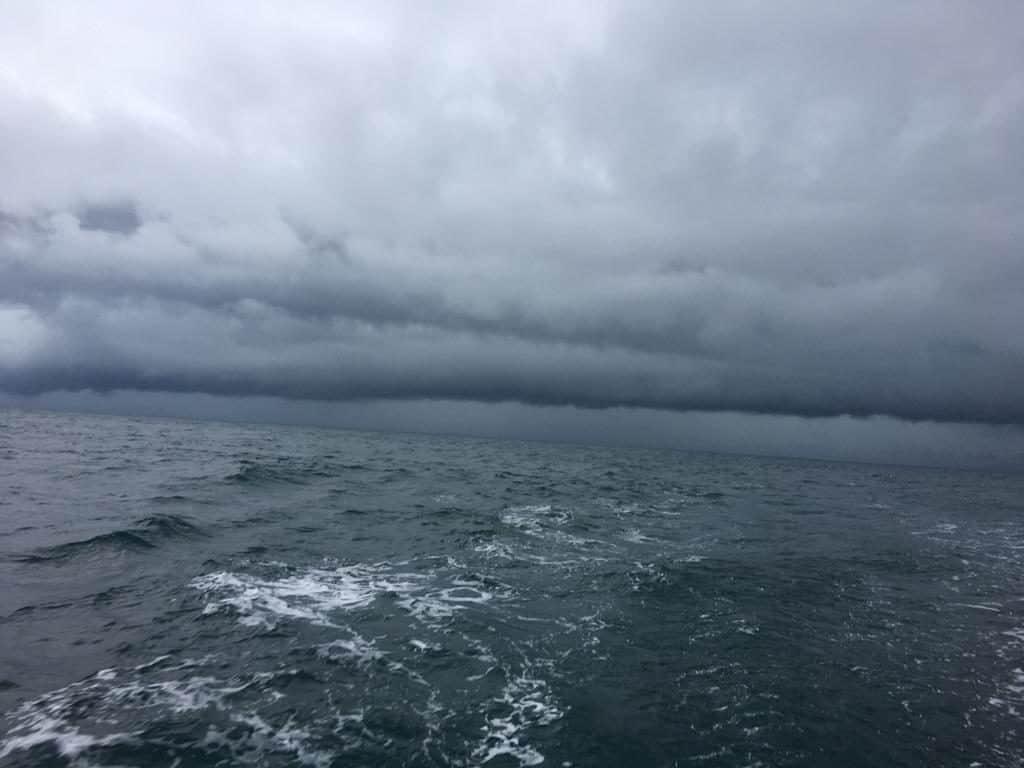Tormentas en medio del Mar Caribe.